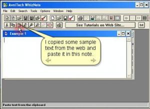 WhizNote 3.5.8 - náhled