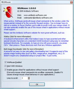 WizMouse 1.7.0.3 - náhled