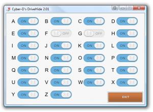 Cyber-D's DriveHide 2.01 - náhled