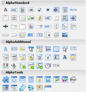 AlphaControls 11.22 - náhled