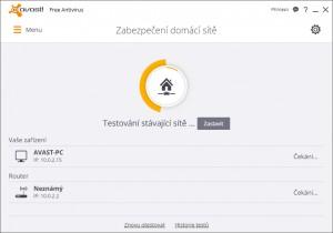 Scan zabezpečení domácí sítě - náhled
