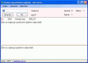 Nepravidelná slovesa 1.0.0.0 - náhled