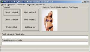 Kódování hesel do obrázků 1.0 - náhled