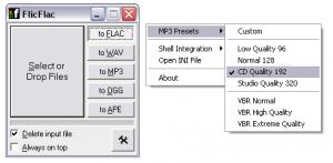 FlicFlac Audio Converter 1.03 - náhled