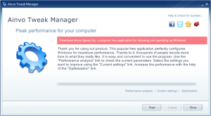 Ainvo Tweak Manager 2.3.2.351 - náhled