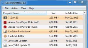 GeekUninstaller 1.4.4 - náhled