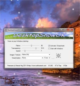 DesktopSnowOK 3.41 - náhled