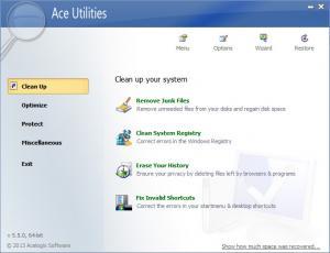 Ace Utilities 6.5.0 - náhled