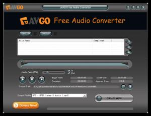 AVGO Free Audio Converter 1.5.5 - náhled