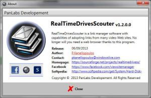 Real Time Drives Scouter 1.1.0.0 - náhled