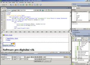 Adobe Dreamweaver CS3 - náhled