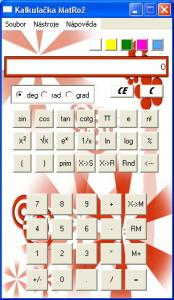 Kalkulačka MatRož 1.00 - náhled