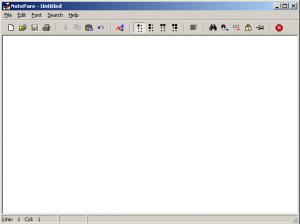 NotePare 1.0a - náhled
