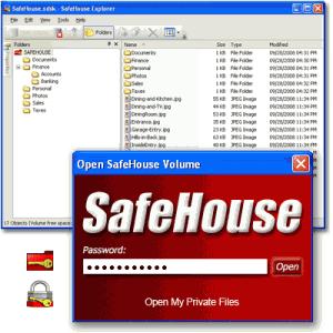 SafeHouse Explorer Encryption 3.01 - náhled