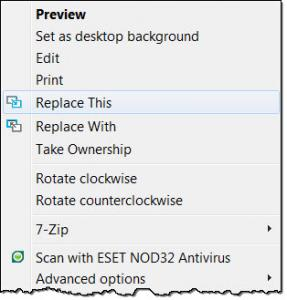 RightClick ReplaceThis v1 - náhled