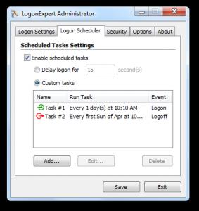 LogonExpert 7.5 - náhled