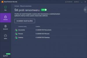Štít proti ransomware - náhled
