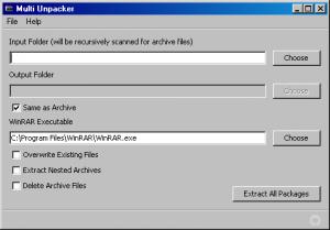 Multi Unpacker 1.0 - náhled