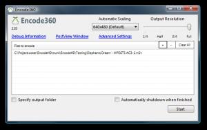 Encode360 2.03 - náhled