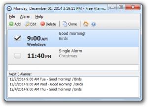 Free Alarm Clock 4.0 - náhled