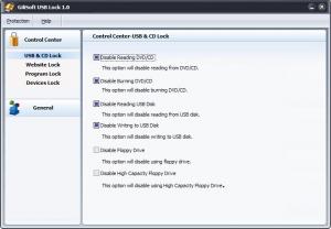 GiliSoft USB Lock 3.0 - náhled