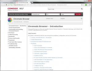 Comodo Chromium Secure 36.1 - náhled