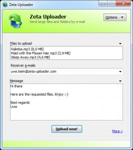 Zeta Uploader 2.1.0.62 - náhled