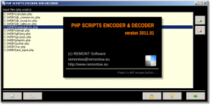PHP Scripts encoder and decoder 2011.01 - náhled