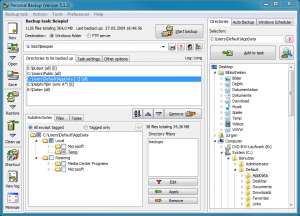 Personal Backup 5.9.4.7 - náhled