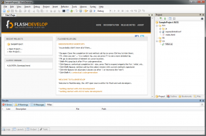 FlashDevelop 5.3.3 - náhled
