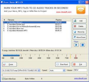 Free Burn MP3-CD 1.2 - náhled