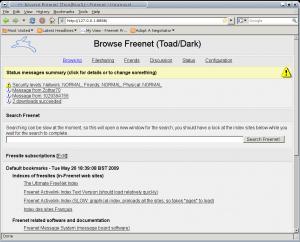 FreeNet 0.7.5 - náhled