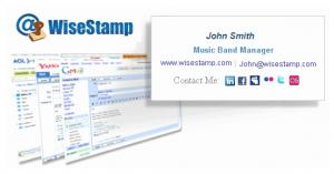 WiseStamp Email Signature 3.9.12 - náhled