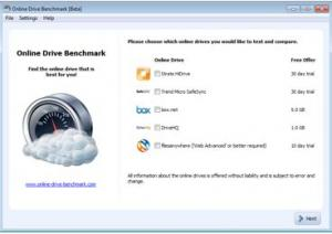 Online Drive Benchmark - náhled