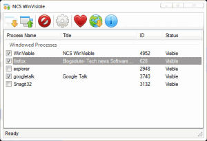 NCS WinVisible 1.0.5.4 - náhled