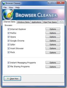 Browser Cleaner Portable 1.2 - náhled