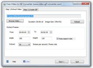 Free Video to GIF Converter 2.0 - náhled
