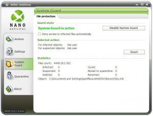 NANO AntiVirus 0.28.2.61942 - náhled