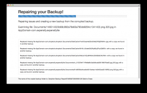 Decipher Backup Repair 8.5.0 - náhled