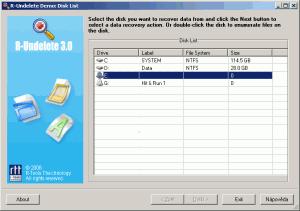 R-Undelete 6.5 Build 170927 - náhled