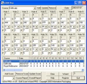 Golf Score Wizard PRO 1.05 - náhled