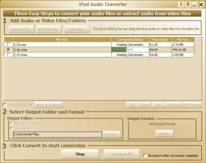 My iPod Audio Converter 1.0.0.0 - náhled