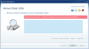 Ainvo Disk Explorer 2.3.2.35 - náhled
