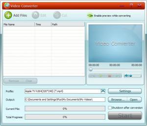 GiliSoft Video Converter 5.2 - náhled