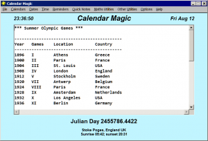 Calendar Magic 18.9 - náhled