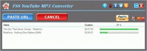 FSS YouTube MP3 Converter 1.3.0.8 - náhled