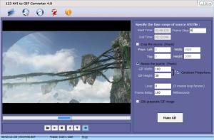 123 AVI to GIF Converter 4.0 - náhled