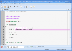 Editra 0.7.20 - náhled
