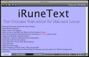 RuneText 2 - náhled