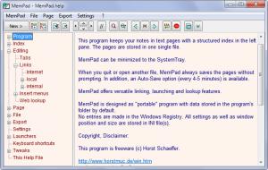 MemPad 3.63 - náhled
